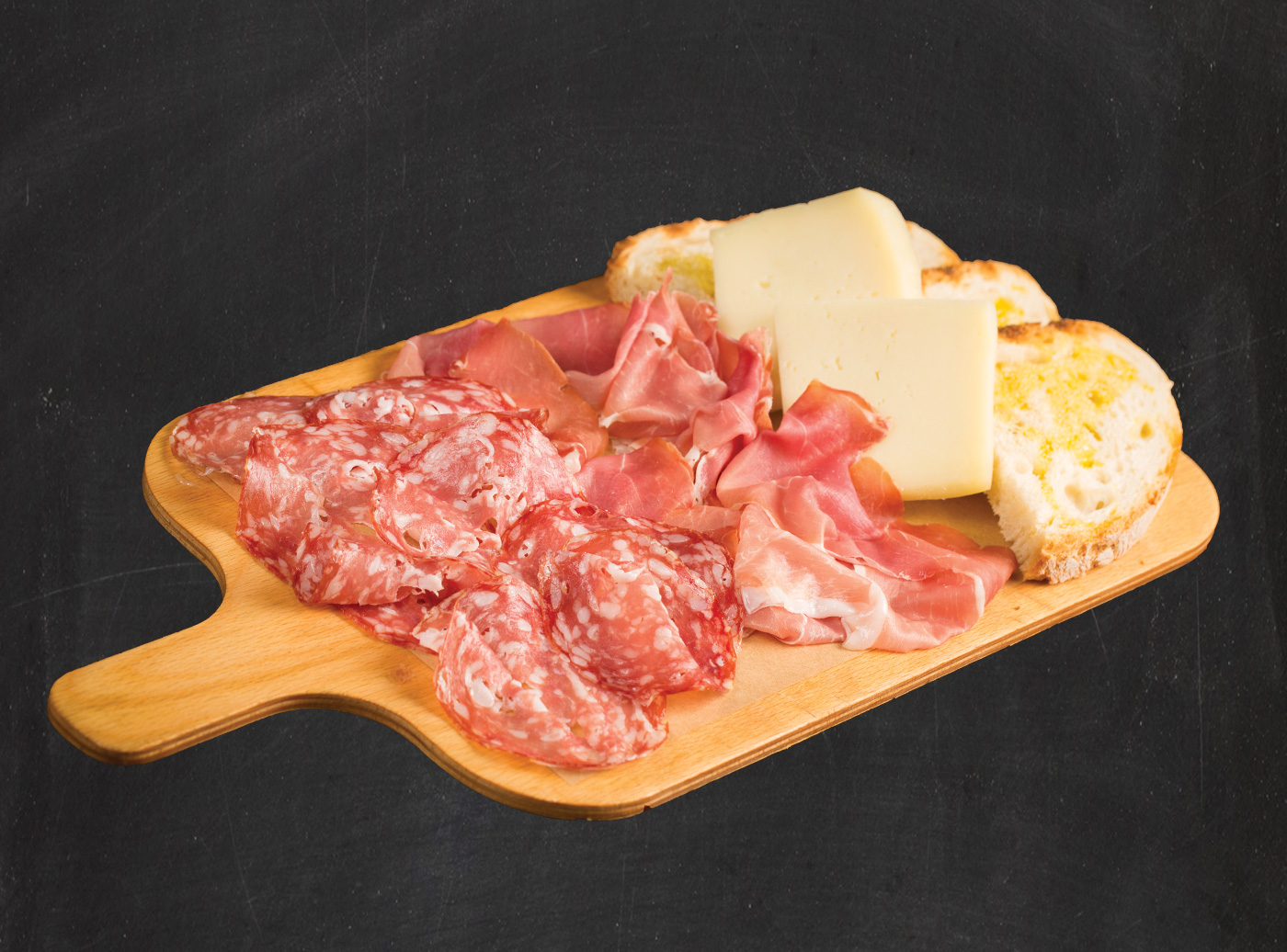 Tagliere Salame Campagnolo Rovagnati e Parma Rovagnati con Pecorino Teramano