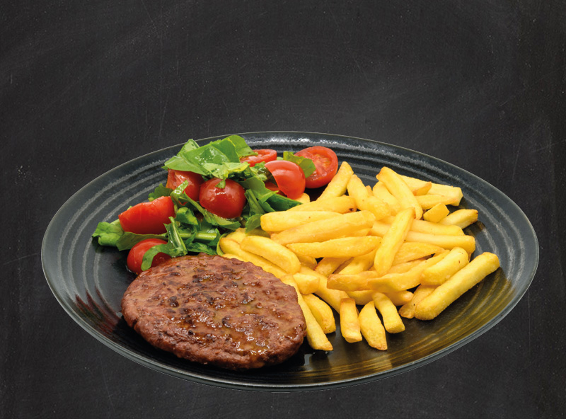 Hamburger Black Angus (220gr) con Patatine Stick
